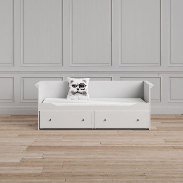 Paris Podwójne Białe łóżko Młodzieżowe